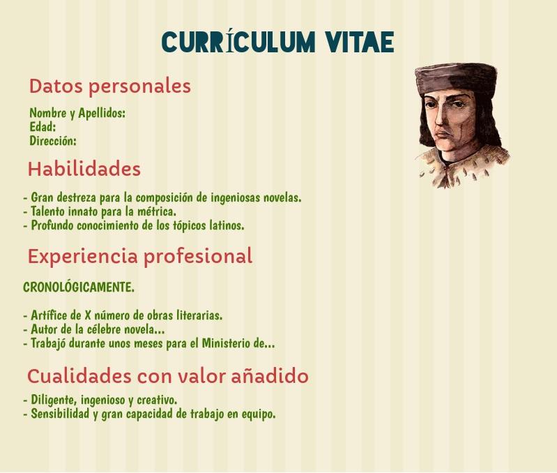 Currículum Vitae de un autor literario